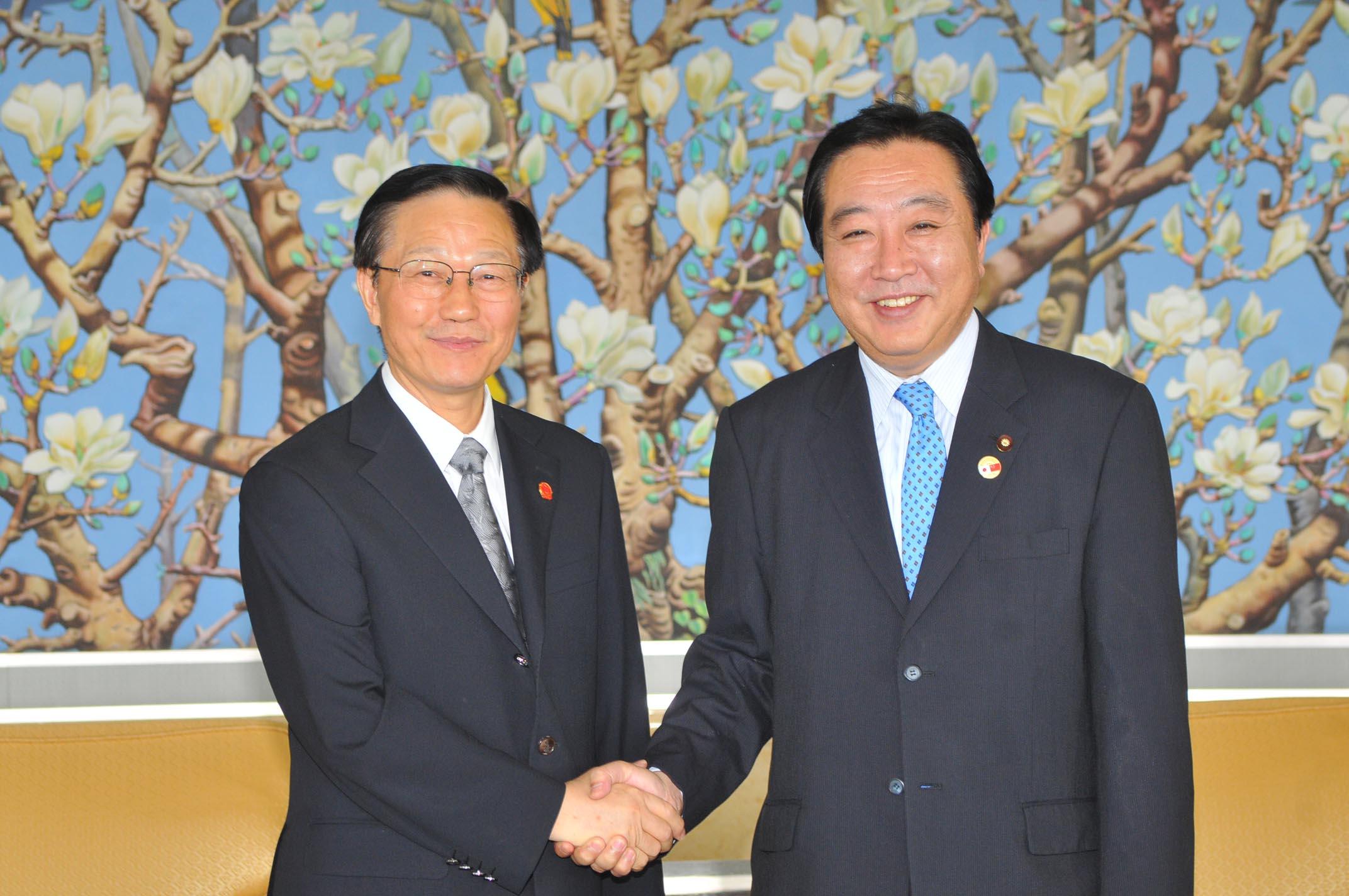 谢旭人部长在京会见日本财务大臣野田佳彦